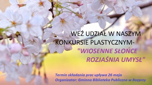 Zapraszamy do wzięcia udziału w konkursie Plastycznym pt. Wiosenne słońce rozjaśnia umysł.jpeg