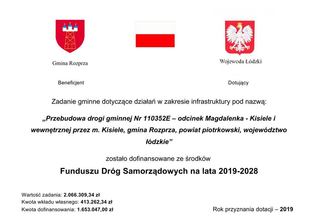 Przebudowa drogi gminnej Magdalenka Kisiele tabliczka.jpeg