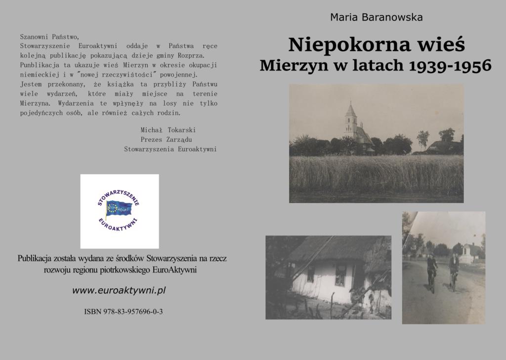 Publikacja Niepokorna wieś. Mierzyn w latach 1939 1956
