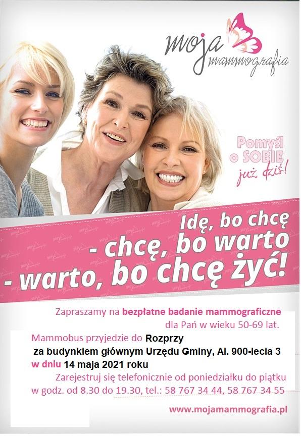 Bezpłatne badanie mammograficzne w Rozprzy