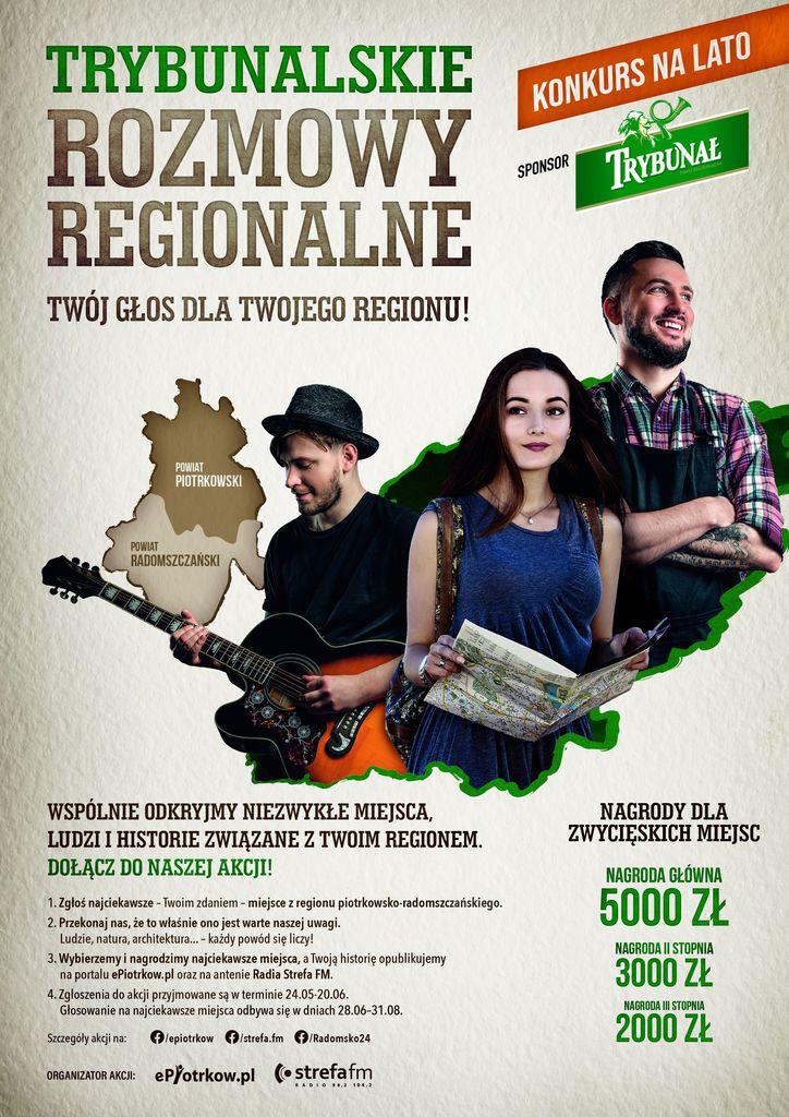 Trybunalskie rozmowy regionalne - plakat