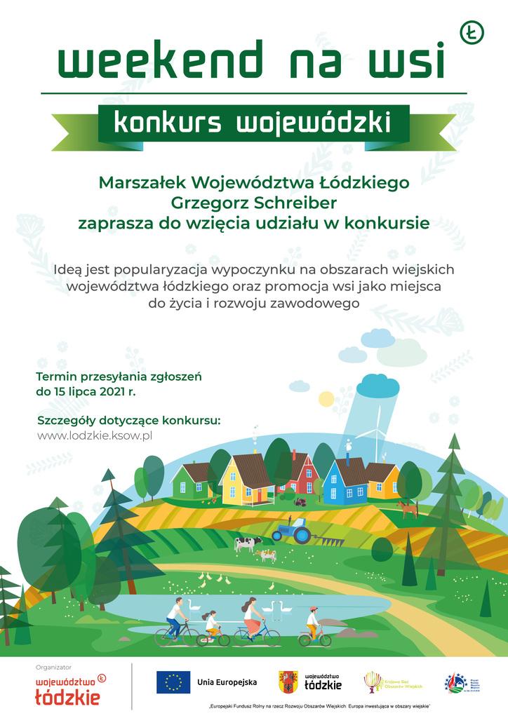 Konkurs Weekend na wsi - plakat