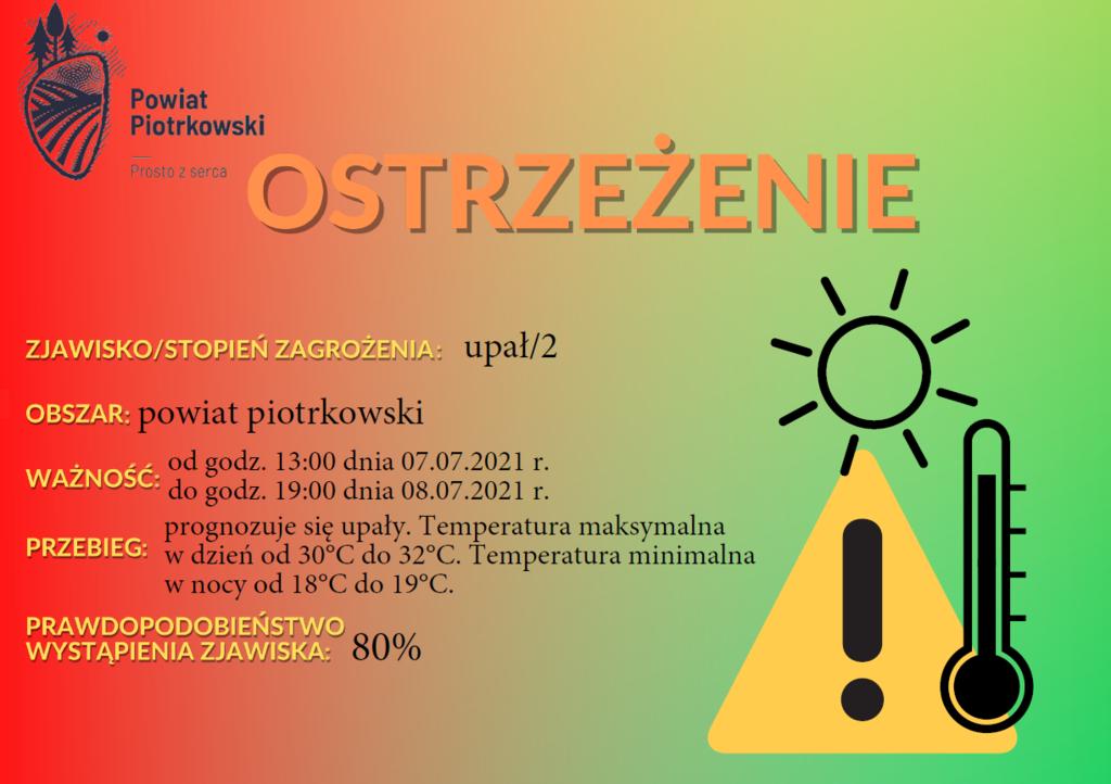 Ostrzeżenie meteorologiczne - upały