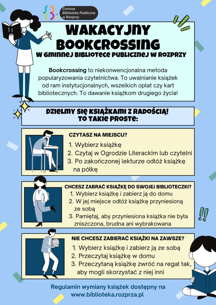 """""""Wakacyjny Bookcrossing"""" w Gminnej Bibliotece Publicznej w Rozprzy"""