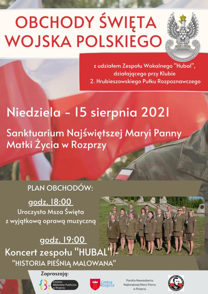 """Koncert """"Historia pieśnią malowana"""" w wykonaniu zespołu """"Hubal"""" - plakat"""