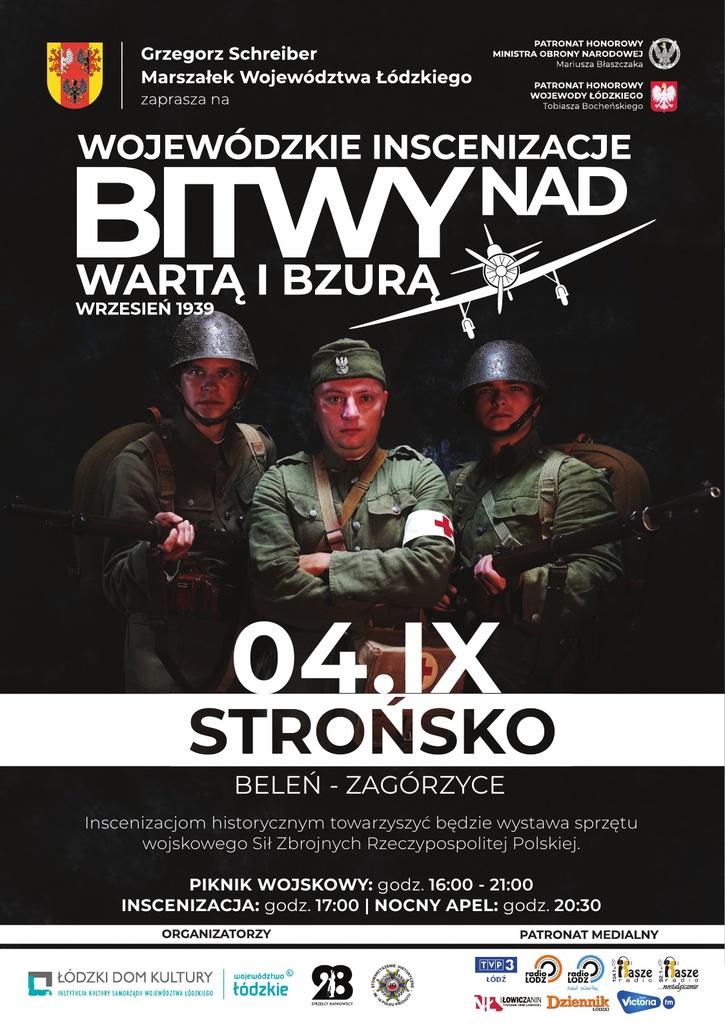 Inscenizacje historyczne w Beleniu i Łowiczu - plakat