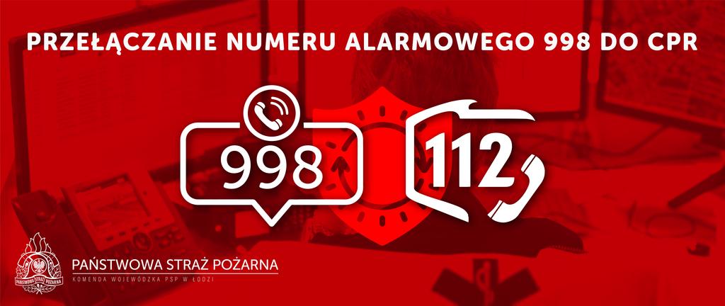 Przełączenie numeru alarmowego 998 do CRP plakat