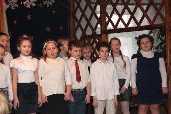 """Galeria Jasełka """"Razem u Jezusa"""" w Szkole Podstawowej w Straszowie"""