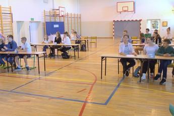 Galeria Mistrzowie matematyki wyłonieni w czasie konkursu w Szkole Podstawowej w Mierzynie