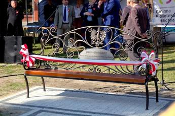 Galeria Odsłonięcie ławki niepodległości