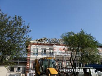 Galeria Budowa dachu SP w Mierzynie