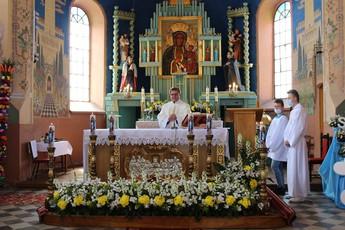 Rocznica 20–lecia kapłaństwa księdza Grzegorza Paszki w Lubieniu.