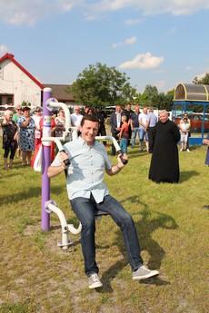 Galeria Otwarcie nowo wybudowanej siłowni w Bogumiłowiee