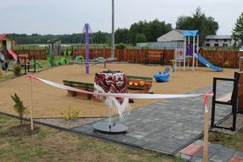 """Galeria Otwarcie """"Zaczarowanego placu zabaw w Romanówce"""""""