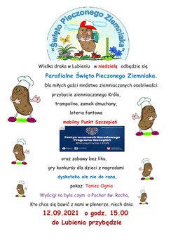 Parafialne Święto Pieczonego Ziemniaka w Lubieniu - plakat