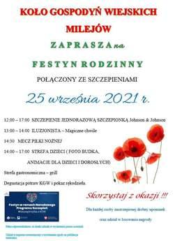 Festyn Rodzinny w Milejowie - plakat